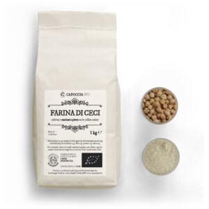 Farina biologica di ceci, confezione da 1 kg
