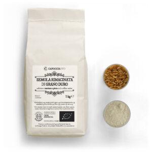 Semola biologica rimacinata di grano duro, confezione da 1 kg