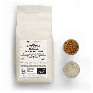 Semola biologica di grano duro, confezione da 1 kg