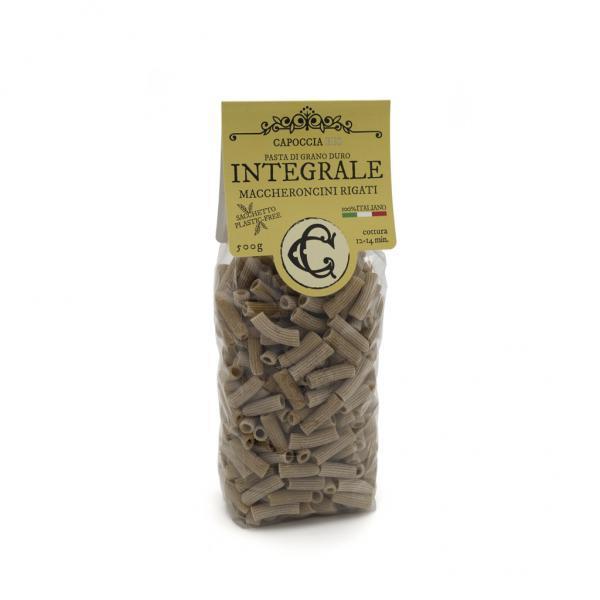 Maccheroncini integrali biologici, pasta di grano duro biologico